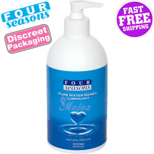 Four Seasons Personal 500ml Sex Lubricant Pump Lube Toys Safe Natural Feel New