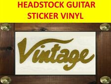 VINTAGE HEADSTOCK GOLD  STICKER GUITAR VISIT MY OUR STORE WITH MANY MORE MODELS