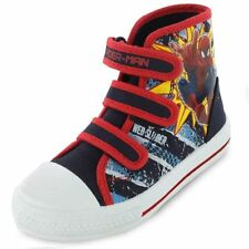 Boys Marvel Spiderman Superhuman Hi Top Canvas Boot Size 1 UK