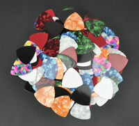 Celluloid 346 Rounded Triangle Guitar Picks 0.71mm 100Pcs Assorted Colors