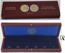 Leuchtturm Münzetui 50 Jahre Elysee-Vertrag Holz Volterra Münzkassette 6x 2 Euro