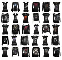 SPIRAL DIRECT Womens Rock/Biker/Cat/Wolf/Roses/Angel/Goth/T Shirt/Top/Clothing