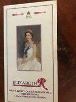 Queen Elizabeth II 70th birthday commemorate crown coin set