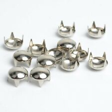 "Pkg of 20 Silver 3/8"" (10mm) ROUND Metal Tack Studs (1076) Leather Crafts"