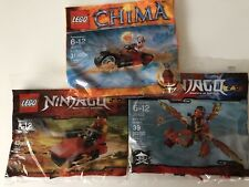 Lego Ninjago Polybags Kai's Mini Dragon & Drifter Chima Worriz's Fire Bike Sets