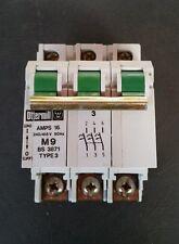 Ottermill System T  16 Amp Triple Pole MCB Type 3/C  M9