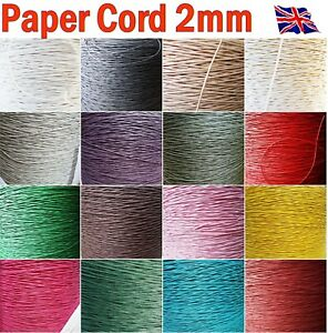 Raffia Paper Cord 2mm decorative strong string DIY craft gift packaging 10m, 50m