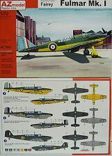 Fairey Fulmar Mk.I, AZ Model, 1:72, Plastik , Neuheit