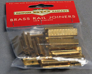 BACHMANN BIG HAULERS BRASS TRACK RAIL JOINERS LARGE G SCALE connectors BAC94657