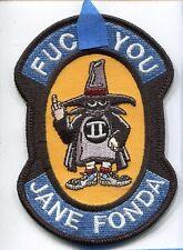 F#%K JANE FONDA VIETNAM F-4 PHANTOM USAF US NAVY USMC Squadron Morale Patch