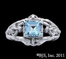 Denna's Ring from Patrick Rothfuss' Kingkiller Chronicle, Blue Topaz, Your Size