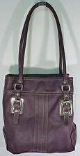 Chaps Purple/Wine Faux Leather Shoulder Bag Purse