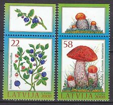LATVIA 2008**MNH SC#  715 - 716  The Berries and Mushrooms