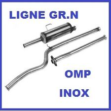 LIGNE ECHAPPEMENT GROUPE N OMP PEUGEOT 106 1.6 S16 EN INOX