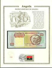 1000 ANGOLA KWANZAS Banknote WORLD CURRENCY COLLECTION Paper Money UNC Stamp