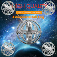 Hand-make Astronomical Sphere Ball Ring Cosmic Finger Ring Astronomy Ball Ring K