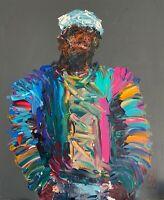 Abstract Portrait Notorious BIG Biggie Smalls Hip Hop Wall Art Original Painting