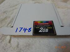 CompactFlash Transcend 2 GB 300x Tarjeta de memoria CompactFlash 2 GB-tarjetas de memoria