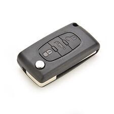 Flip Folding Remote Key Case Shell for PEUGEOT 407 307 308 607 3 Buttons FG