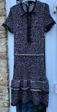 ZARA BLACK MULTICOLOURED HEAVY KNIT DRESS LARGE UK 14