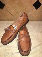 EUC Allen Edmonds Colebrook Brown Leather Loafers Size 12 B