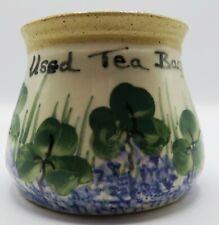 O'Neill Pottery Bunratty Castle Ireland Used Tea Bag Pot With Shamrocks