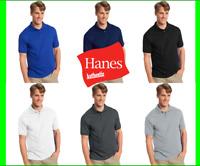 Hanes Golf Tee Men Polo Shirt Cotton-Blend Jersey Sport Comfort S to 6XL