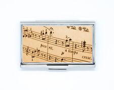 Porte Carte de Crédit / Visite partition papier musique Boîte Rigide en acier