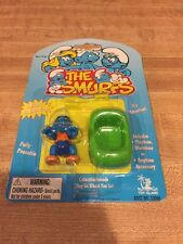 Smurfs Minimates Smurfette Green Boat New on Card 1996 Toy Island MOC
