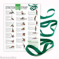 OPTP Stretch Out Strap Exercise Cerebral Palsy Yoga Pilates Workout Poster GYM
