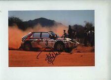 Bjorn Waldegaard LANCIA DELTA Safari Rally 1992 firmato Fotografia