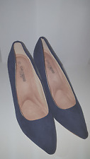 Chic Elegant Girl Press Comfort Medium Shoes Navy Blue Stiletto Heel of 7-9cm