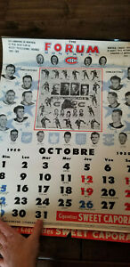 1950-51 SWEET CAPORAL MONTREAL CANADIENS CALENDAR RICHARD HARVEY DURNAN HOWE