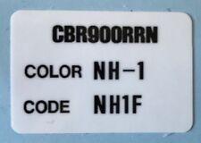 HONDA CBR900RRN COLOR CODE CAUTION WARNING DECAL LABEL