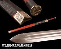 Folded Steel Handmade Han Dynasty Jian Sharp Chinese Double Edge Straight Sword