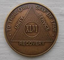AA New Bronze Alcoholics Anonymous 46 year coin medallion
