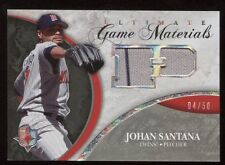 2006 Ultimate Collection Johan Santana Game Materials 4/50 Pinstripe Relic Card