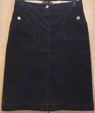 Per Una Women's Size 14 Chocolate Brown Corduroy Needlecord Calf-Length Skirt