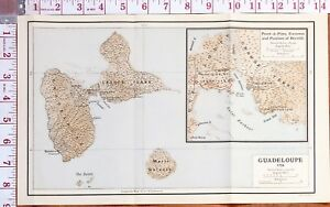 MAP/BATTLE PLAN GUADELOUPE GRANDE TERRE POINT-A-PITRE ENVIRONS BERVILLE