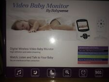 BabySense Video Baby Monitor W/lcd Night Vision Temperature 2 Way Talk Back
