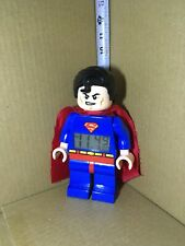 "Lego DC 2013 Superman Digital Alarm Clock 9"" Tall"