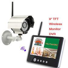 "Wireless 9"" TFT LCD 2.4G 4CH CCTV DVR Security System Motion Night Vision Camera"