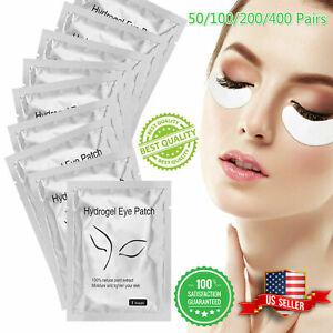 400/50Pair Eye pads Eyelash Pad Gel Patch Lint Free Lash Extension Mask Eyepads