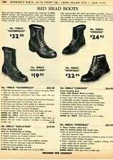 1962 Print Ad of Red Head Boots Waterproof, Gun-O-Rod, Chinook & Sportmoc