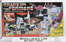 Metroplex NEAR MINT FIGURE MIB 100% Complete 1985 Vintage G1 Transformers