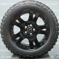 "GENUINE LAND ROVER DISCOVERY 4/3 19""INCH BLACK ALLOY WHEELS AND MUD T TYRES X4"