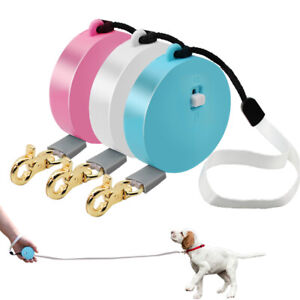 Mini Retractable Pet Cat Puppy Dog Lead for Small Dogs Chihuahua One-Hand Brake