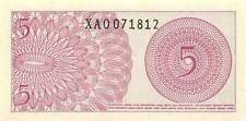 Indonesia  *5* Sen  1964  Series XAO  Replacement  Uncirculated Banknote M27Jw