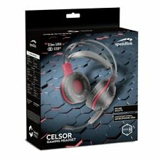 SPEEDLINK CELSOR STEREO PC GAMING HEADSET AND FLEXIBLE MICROPHONE BOOM BLACK/RED