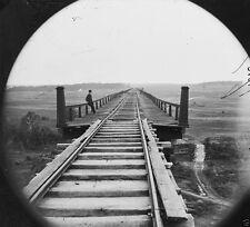 South Side Railroad Bridge over Appomattox River VA - 8x10 US Civil War Photo